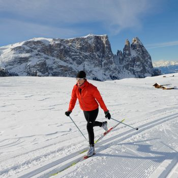 Cross-country skiing on the Seiser Alm, a paradise