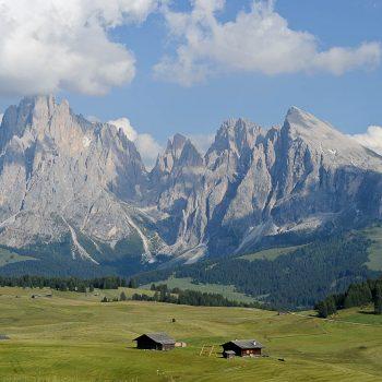 Sasso Lungo e Sasso Piatto sull'Alpe di Siusi