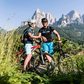 Con la mountain bike esplorate Siusi allo Sciliar e dintorni