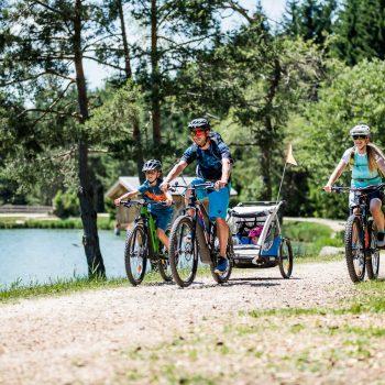 With the mountain bike from Siusi allo Sciliar to the Laghetto di Fie